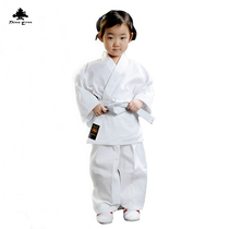 Pine Pinetree Karate Suit Spring and summer long sleeve white match training suit adult children
