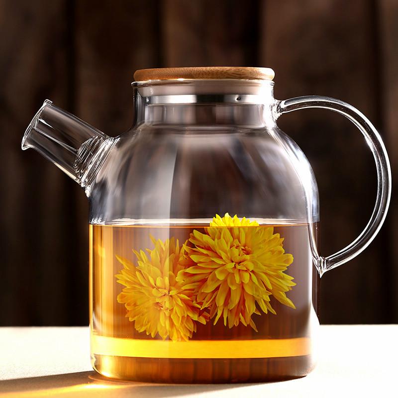 透明玻璃煮茶下午茶茶具水果茶壶花茶杯套装家用加热蜡烛果茶加热