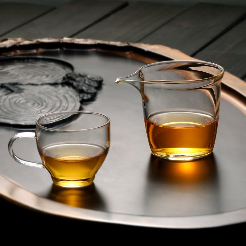 正品耐熱玻璃杯泡茶杯 加厚花茶杯 透明小杯 辦公玻璃茶水杯子