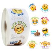 卷可爱卡通字母表情包笑脸贴纸玩具装 500张 饰儿童教师奖励贴纸