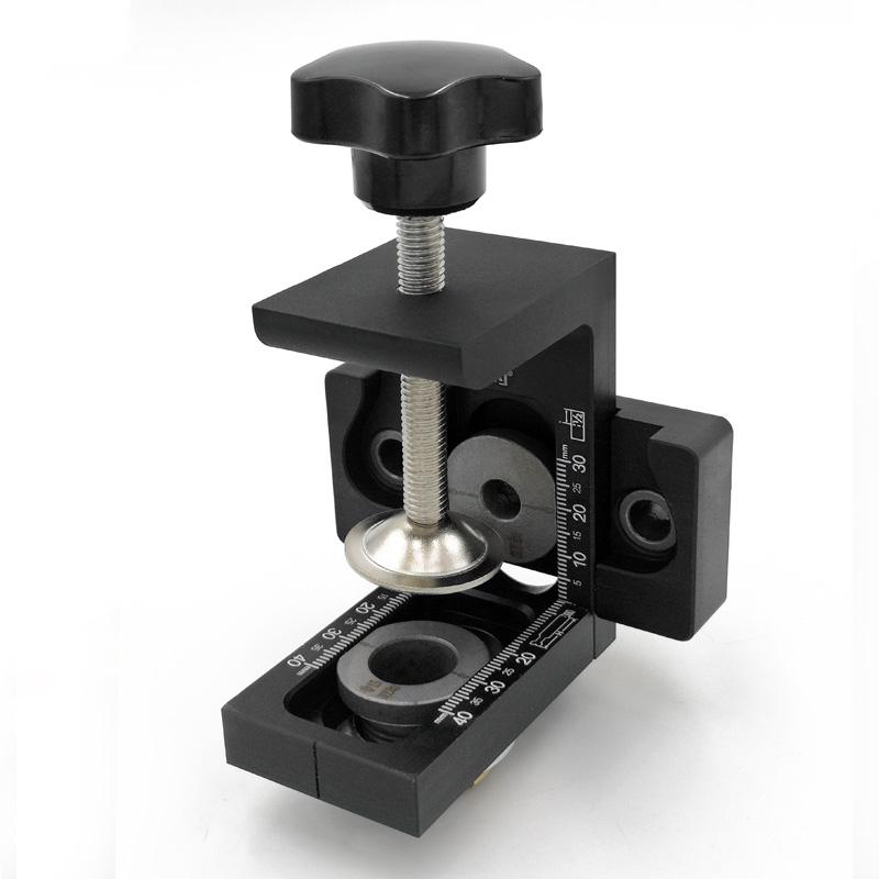 木工二合一三合一打孔定位器木工工具板式家具打孔器连接件开孔器