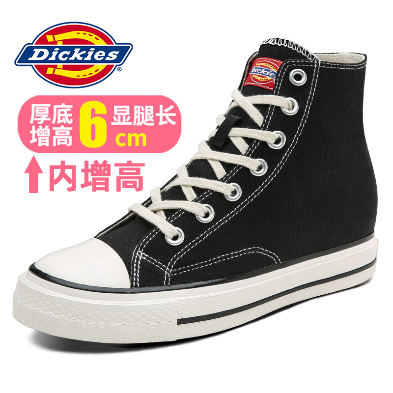 Dickies women's shoes 2020 spring canvas shoes women's ulzzang high top retro Hong Kong flavor thick bottom and high inside