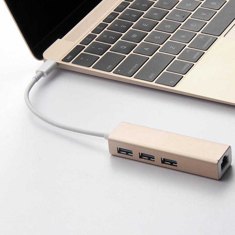 华硕 灵耀U3000UQ 笔记本电脑转RJ45有线网卡 USB3.0分线器