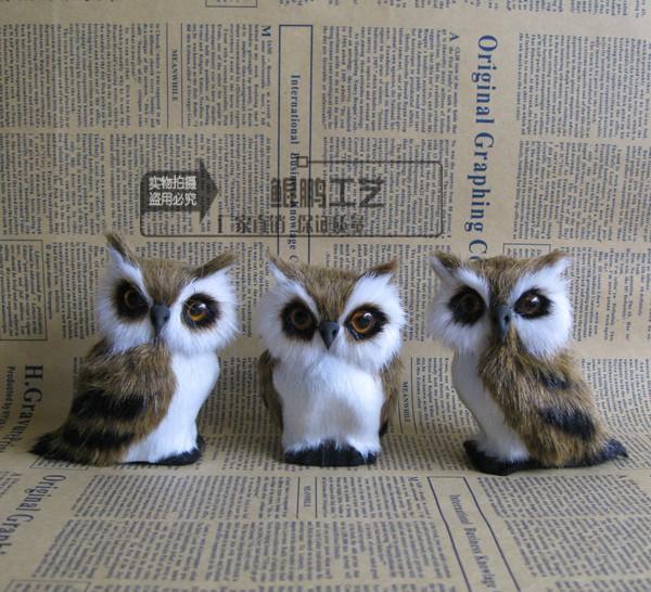 仿真小猫头鹰创意礼品鸟类标本模型