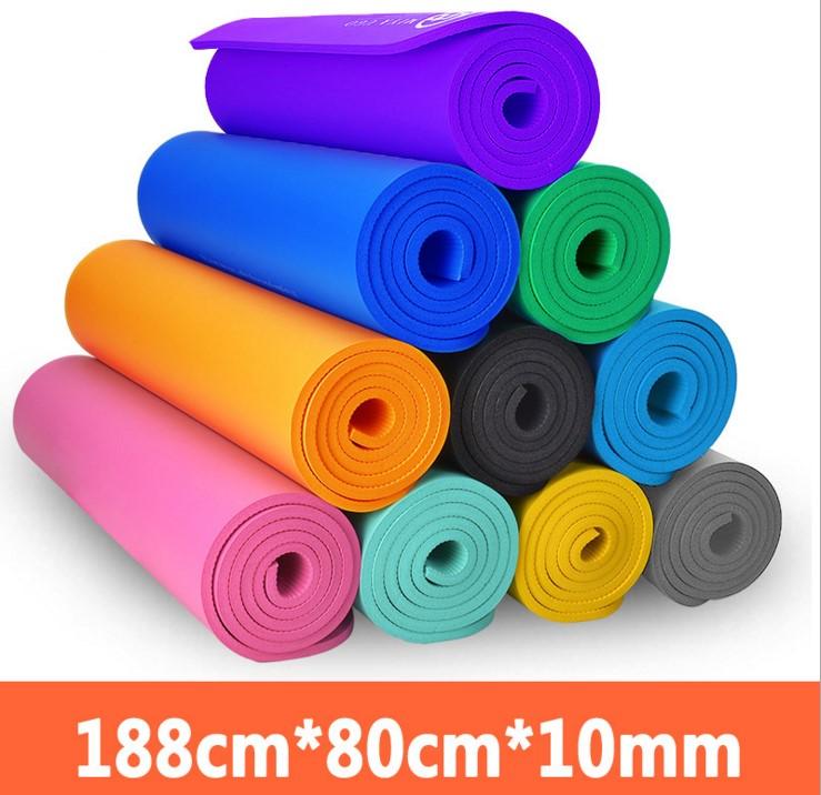 瑜伽垫初学10MM加长愈加防滑健身垫子特价加厚加宽无味瑜珈垫包邮