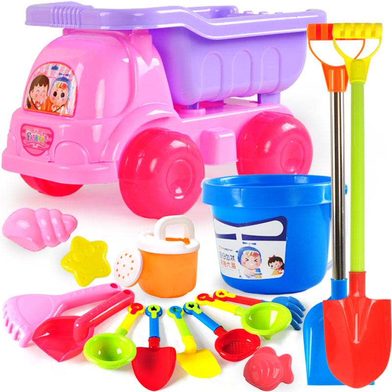 儿童沙滩玩具车套装挖沙铲子桶沙漏宝宝玩沙子决明子工具男孩女孩