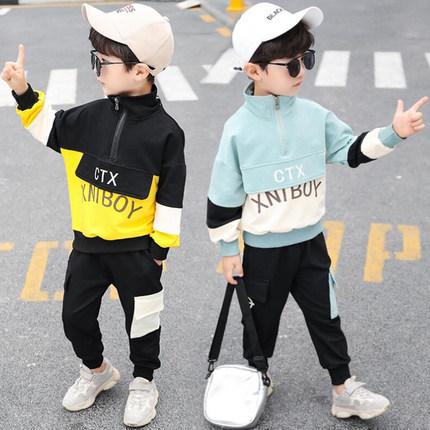 男童套装2019秋款运动装中小童儿童