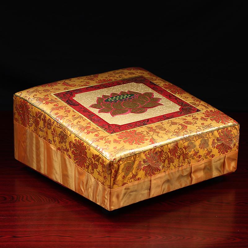 实木拜垫高档绣花丝绸拜垫拜凳拜椅打坐垫跪垫拜垫拜佛垫方形家用 Изображение 1