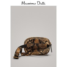 Massimo dutti women accessories snake effect leather waist bag 06920616734