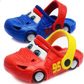 迪士尼汽车儿童洞洞鞋宝宝凉拖鞋小孩拖鞋包头男童沙滩鞋防滑夏季