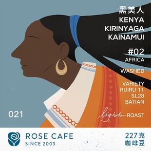 肯尼亚AA咖啡豆 黑女神卡娜米 黑莓风味 玫瑰咖啡豆227克
