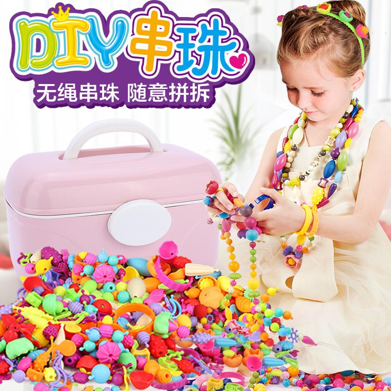 儿童串珠玩具女孩3-4-5-6