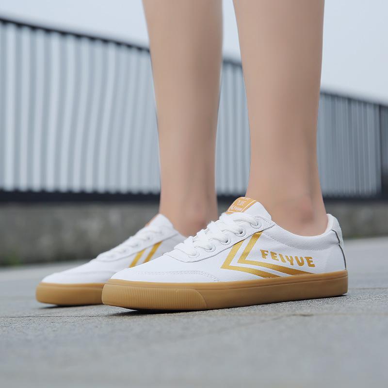 feiyue/飞跃帆布鞋男女情侣款小红书同款白金韩版休闲鞋DF/1-725图片