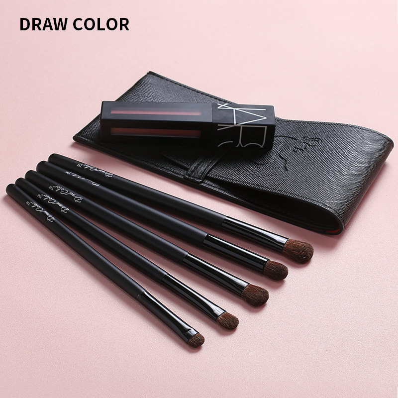 Eye shadow brush 5 eye makeup brush set animal Mao Xiaoma Mao Xiurong Eye Liner Brush nose shadow brush dye dizzy