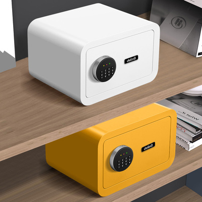 Deling safe household small safe fingerprint password mini bedside all-steel in-wall cloakroom safe deposit box invisible in-wall installation and fixing 20/25