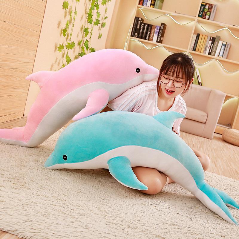 大号可爱情侣海豚公仔抱枕小海豚毛绒玩具布娃娃玩偶儿童女孩女生