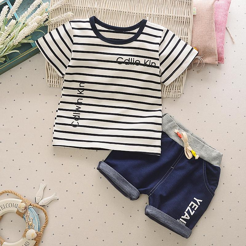 寶寶夏裝兒童短袖套裝男童女童兩件套2017 嬰兒 衣服