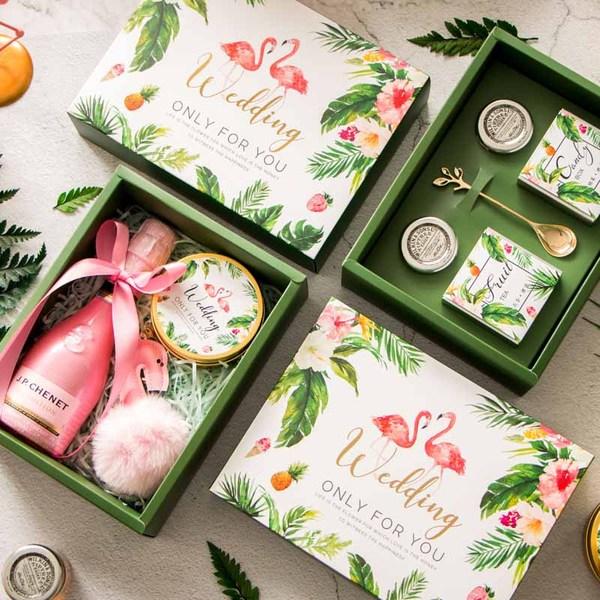 火烈鸟结婚回礼糖果礼盒,式创意个性伴手礼