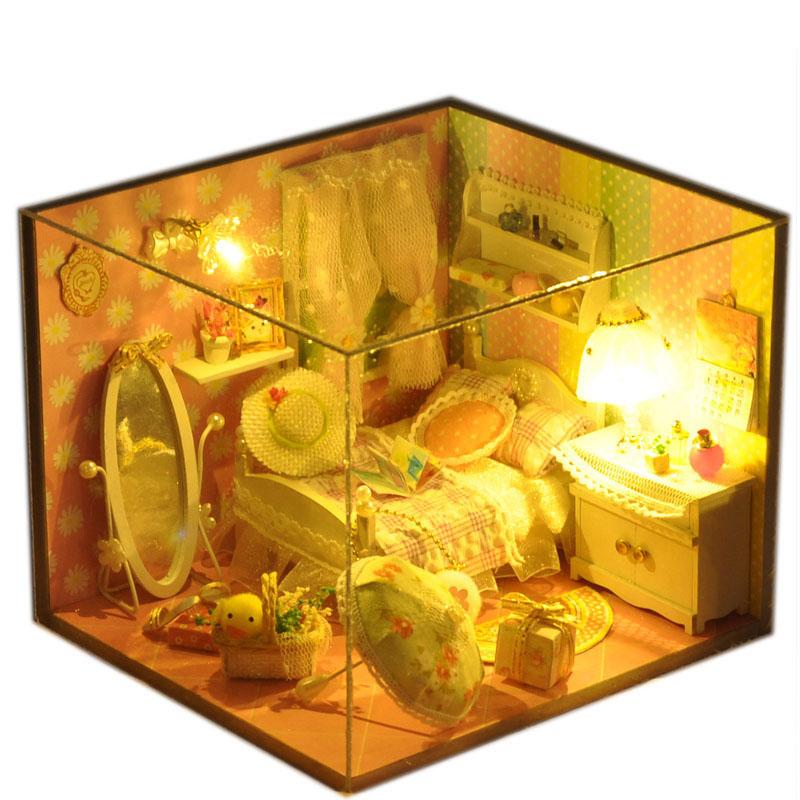 diy小屋春之語 製作小房子模型拚裝女孩玩具 生日 女生
