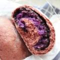 麦轻 紫薯紫糯米奶酪全麦面包低卡紫薯夹心早餐欧包无糖无油420g