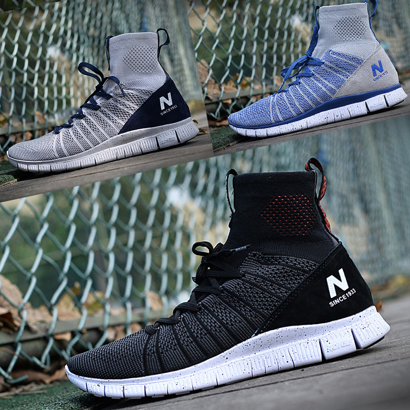 Genuine Lv Bu Nb Adige mens shoes womens shoes mesh breathable running shoes high top light casual couple sports shoes