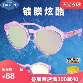 迪士尼儿童太阳镜冰雪奇缘镀膜防紫外线女童小女孩墨镜时尚潮眼镜图片
