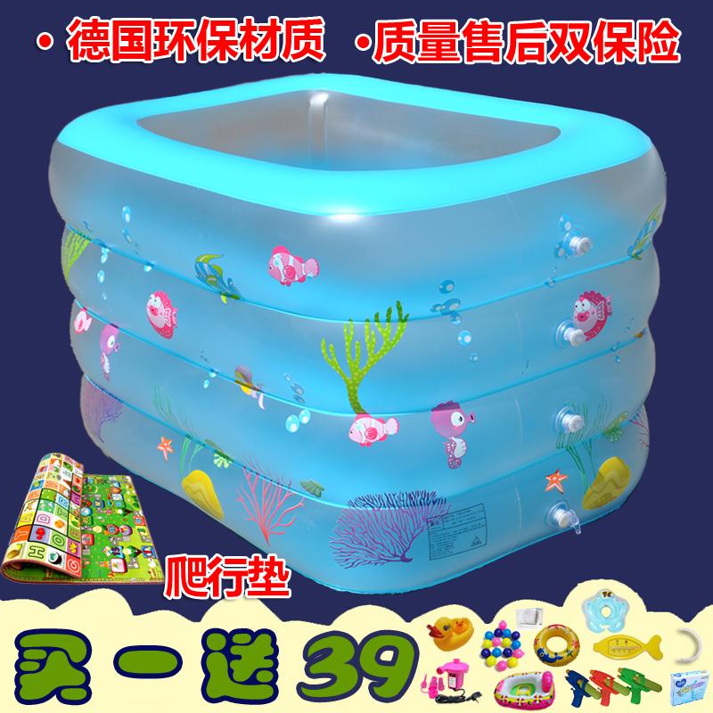 婴儿童电动充气游泳池宝宝加厚浴盆球池 成人泡澡折叠浴缸桶大号