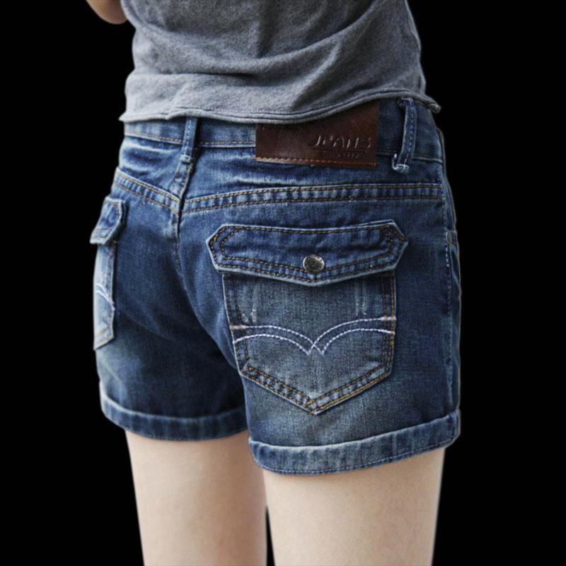 2021夏季新款牛仔短裤女中腰弹力显瘦百搭学生韩版卷边宽松热裤潮