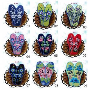 满包邮湘西新款针孔纯手工十字绣花鞋垫时尚潮流半成品全棉布鞋垫