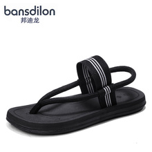 New Korean style men's slippers in the summer wear flip-flops men's beach sandals outdoor personality sandals