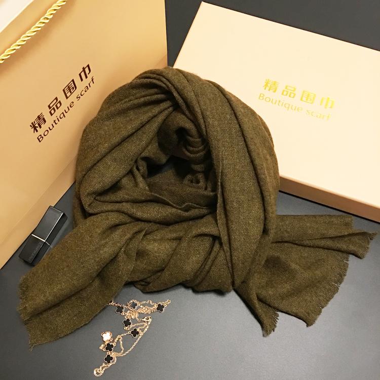 欧洲订单特别好货 高原牦牛绒围巾 秋冬季男女通用情侣中厚款围巾
