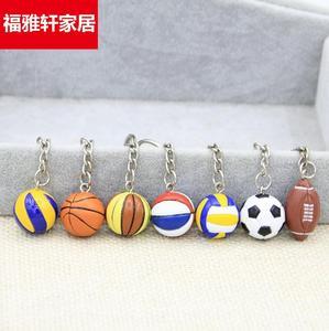 排球挂坠球形小号钥匙扣装饰用品道具礼品创意挂件纪念品奖品新款