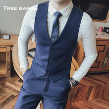 Suits, vests, men's waistcoat, British Korean version, body building groom dress, business casual, professional suit, vest, vest