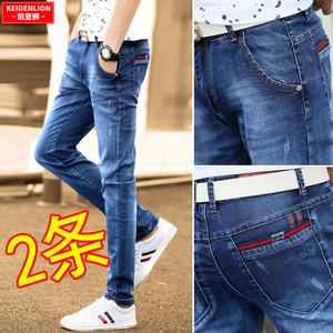 夏季男2021年新款修身潮牌小脚裤子
