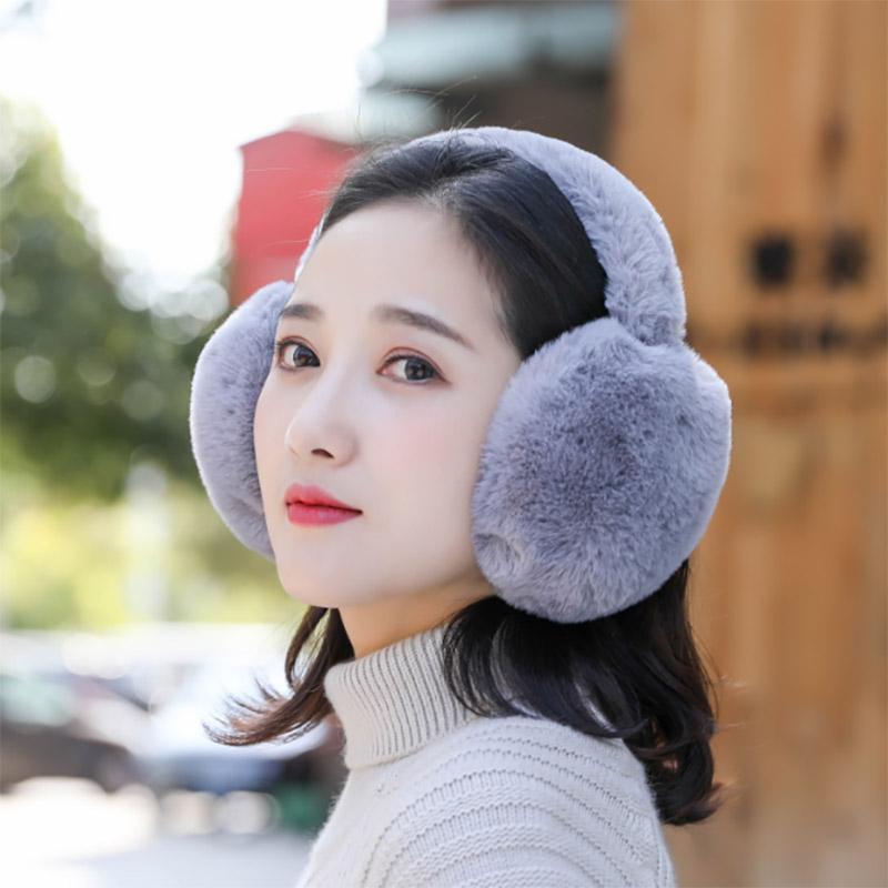 冬季可爱男女可折叠儿童毛绒耳罩护耳骑车耳包时尚秋冬天学生保暖图片