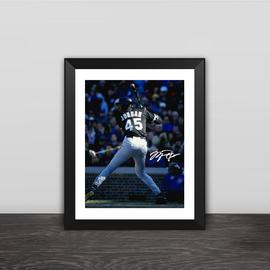 乔丹棒球款相框篮球酒吧乔丹球迷礼物装饰篮球球迷用品摆件照片墙图片