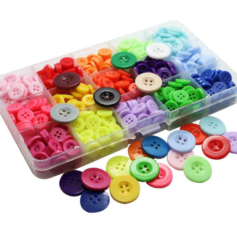 圆形树脂纽扣儿童手工画制作DIY多彩色大衣风衣外套 衬衫钮扣扣子