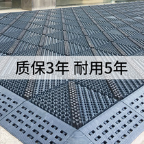 Card Blue outdoor anti-skid Pad Hotel entrance Three in one pad shopping mall entrance outdoor hollow dust removal mat