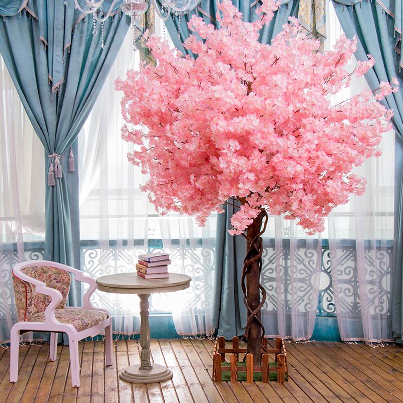 桜の木に似せて大型の桜の木と桃の木の偽の木の客間の床に置く置物は室内の装飾を遮ってカスタマイズします。