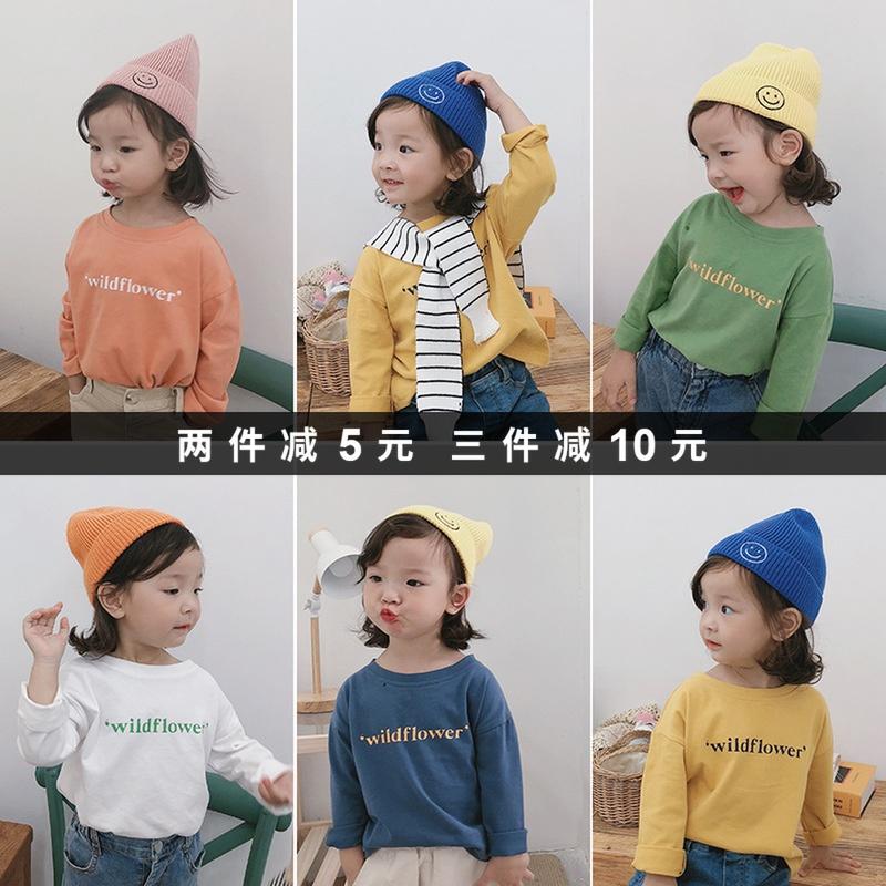 女童秋装2019新款女宝宝长袖T恤小女孩韩版上衣打底衫洋气纯棉潮包邮