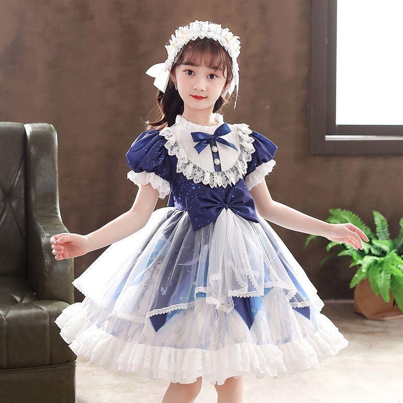 2021夏季连衣裙童话风短袖学生女童洛丽塔公主裙儿童原创lolita裙