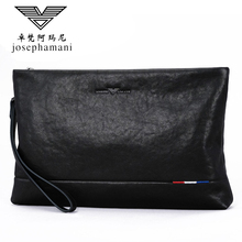 Zhuofan Armani Man's Handbag Genuine Mobile Handbag Man's Handbag Large Capacity Envelope Pack Man's Handbag Genuine Leather Cowhide