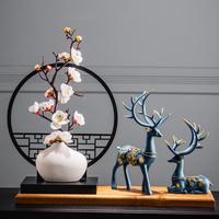 新中式复古典中国风茶几装饰品禅意家居庭客厅创意玄关酒柜小摆件