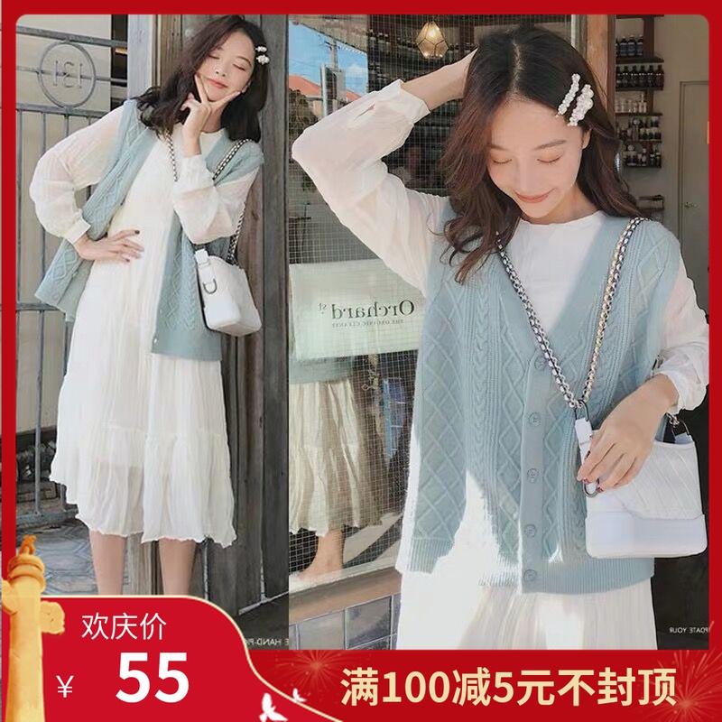热销51件限时2件3折孕妇秋装套装时尚款韩版外出马甲