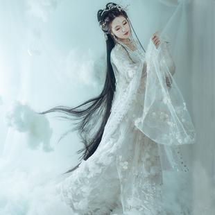 明月光漢服女中國風夏季櫻花超仙飄逸古風齊胸襦裙學生仙氣古裝