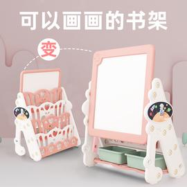 儿童书架绘本架简易幼儿玩具收纳架宝宝家用落地架塑料柜子整理架图片