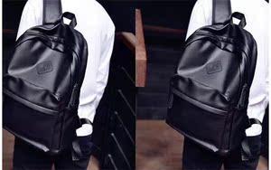 男包韓版潮包學生書包女包PU皮男士雙肩包男背包電腦包休閑旅行包