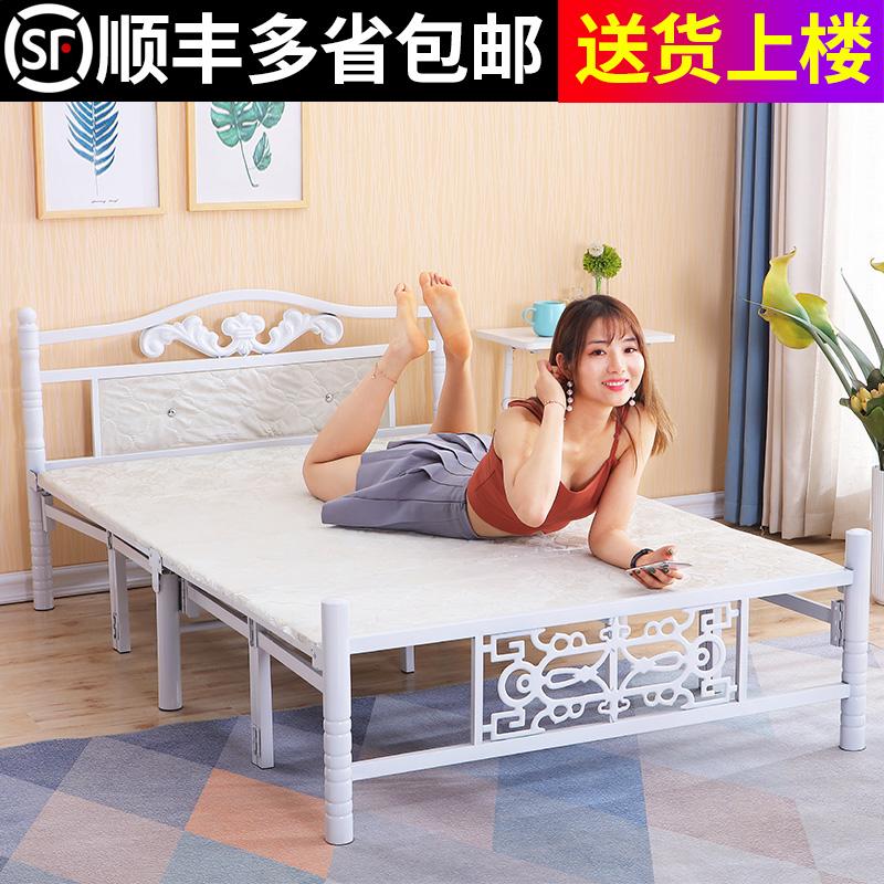 加固折叠床单人午休床办公室简易床出租房木板床家用1.5米双人床