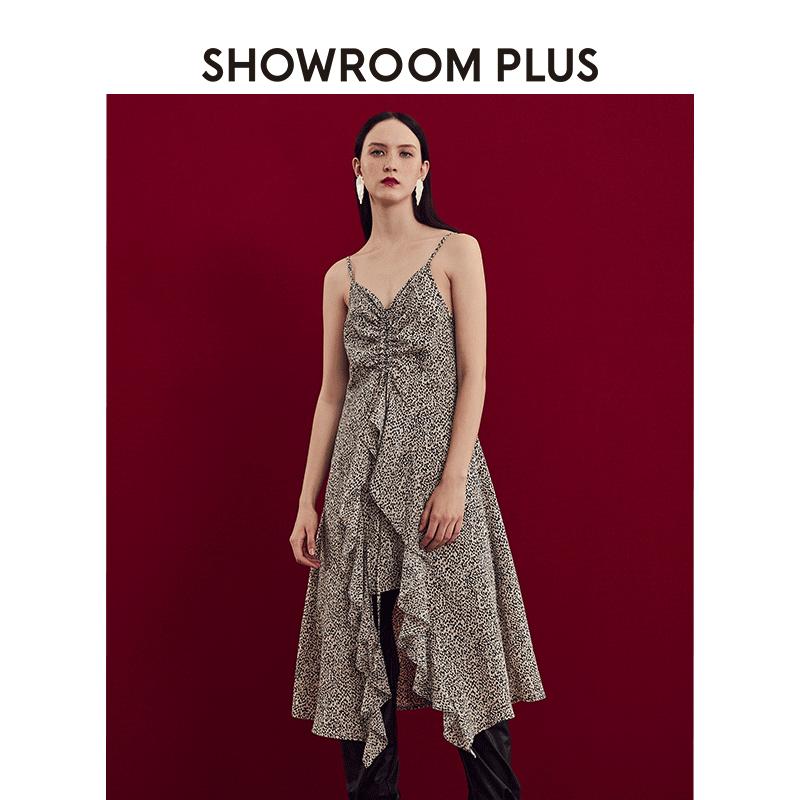 showroom plus夏季新款豹纹连衣裙热销13件有赠品