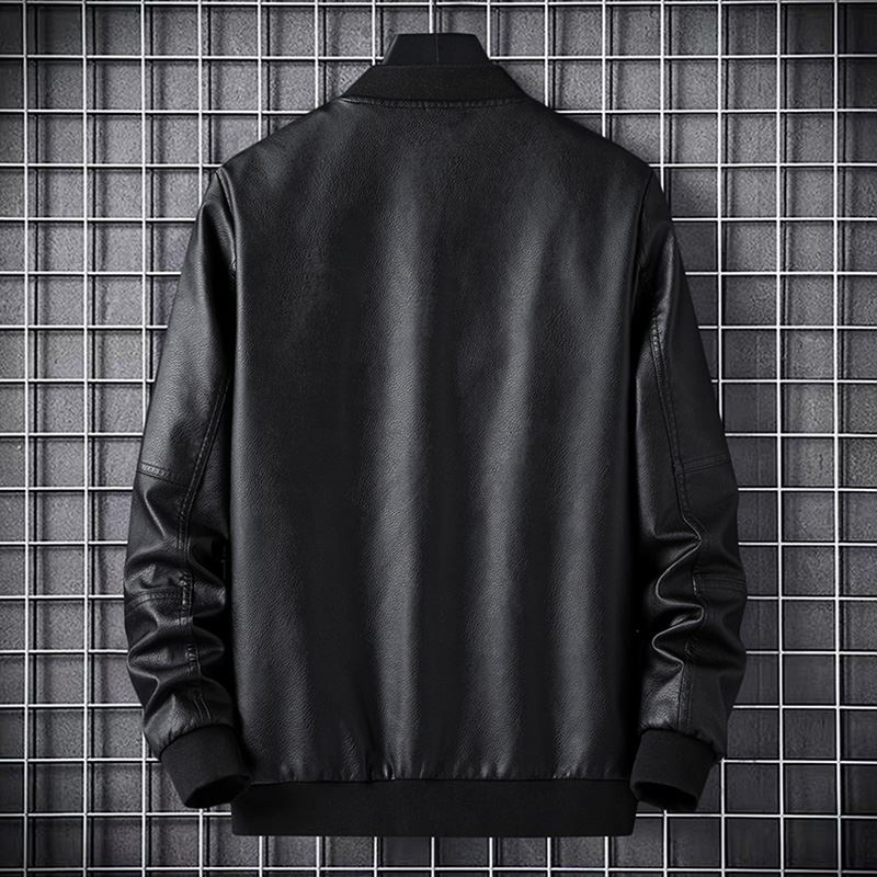 Fashion style 2020 spring and autumn new soft leather mens sports leisure short jacket Motorcycle Jacket